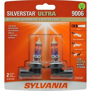 Sylvania Silverstar Ultra 9006su 2 Headlight Bulbs Pair