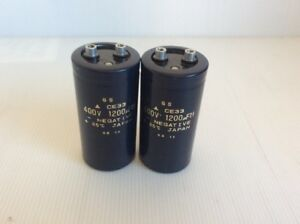 Refurbished Gs Ce33 Capacitor 1200uf 400v Lot Of 2