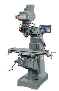 Eisen S 2a 9 x49 Milling Machine 3hp W 2 axis Dro Free X axis Powerfeed