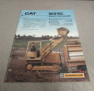 Cat Caterpillar 931c Track type Loader Specification Brochure Manual Aehq0402