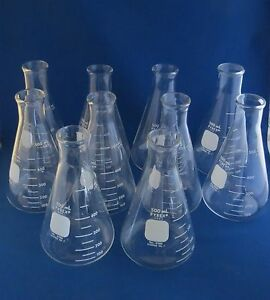Qty 10 Pyrex Erlenmeyer Flasks 500ml 4980