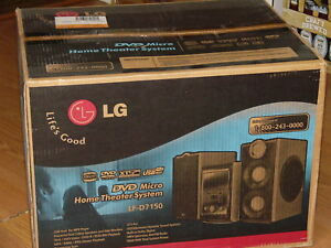 NEW LG LF-D7150 Micro DVD CD Home Theater Player System 160W Total Output