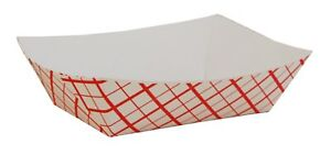 Southern Champion Tray Sch0409 Paper Food Baskets Red white Checkerboard 1 2