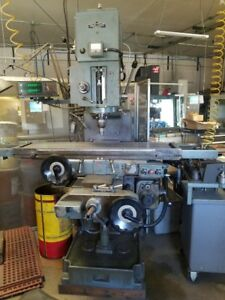 Rambaudi M3 Heavy Duty Knee Mill Power Feed All Axis And Readout