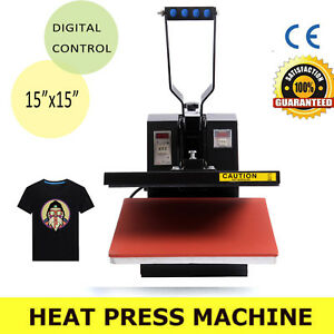 Diy Heat Press T shirt Heat Transfer Sublimation Machine 15 X 15 Clamshell