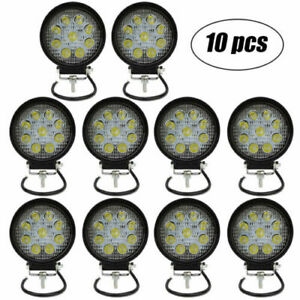 10x 4inch 27w Round Led Work Light Pod Spot Beam Off road Fog Driving Light 12v