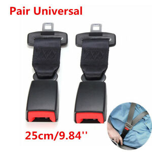 2x 25cm Car Seat Belt Safety High Strength Nylon Extender Extension Strip Buckle