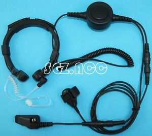 Military Tactical Throat Mic Headset earpiece For Kenwood Radio Tk 5320 Nx 200