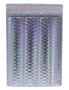 Holographic Bubble Mailer Size 4 9 5x13 5 Metallic Foil