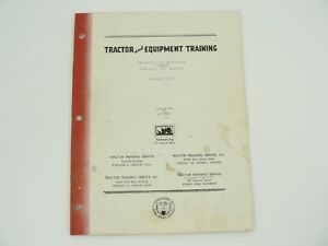Tractor Equip Training Manual Operation servicing Oliver Row Crop 70 Vtg 1956