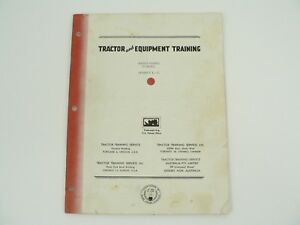 Tractor Equipment Training Manual Massey Harris 55 Diesel Vintage 1956