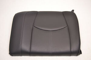 Porsche Seat Back Rest Rear Left Black Leather 911 Carrera 997 Oem 2005 2012
