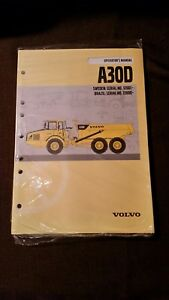 Volvo A30d Articulated Off Road Dump Truck Operator s Manual S n 12001