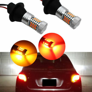 Can bus 7440 Switchback Red Amber Led Kit For Front Rear Signal Brake Lights