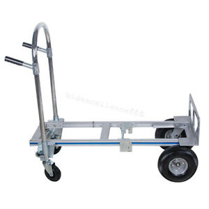 51 Height 2 In 1 Foldable Aluminum Hand Truck dolly utility Cart heavy Duty