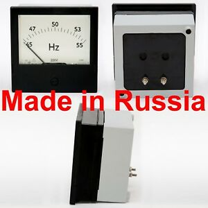 Frequency Meter Ac Russian Analog Panel Meter Class 0 5 Tester 120 120mm C300