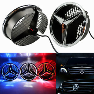 Motor Front Star Grille Emblem For Mercedes Benz 2006 2013 Illumi