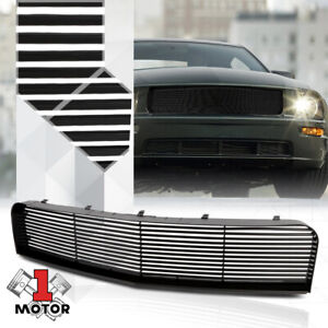 Black Abs Horizontal Bar Billet Upper Grille grill For 05 09 Ford Mustang Pony