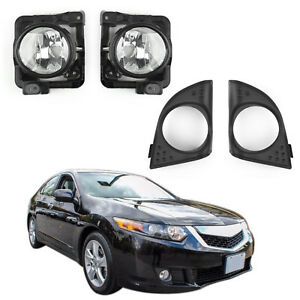 Lh Rh Foglight Fog Light Lamp Cover Metal Without Bulb For Acura Tsx 2009 10 Ue