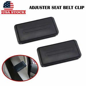 2 Car Seat Belt Stopper Clip Buckle Comfort Safety Strap Adjuster Shoulder Relax