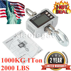 1000kg 1ton 2000 Lbs Digital Crane Scale Heavy Duty Hanging Scale Ocs s In Usa