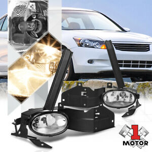 Crystal Clear Fog Light Bumper Lamps W Switch Harness For 08 10 Honda Accord 2dr