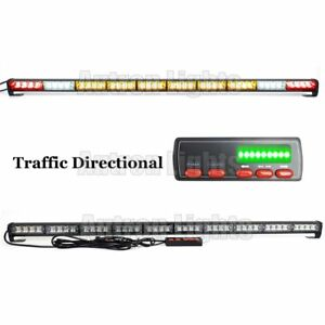 43 Amber Led Light Bar Flashing Tow plow Truck Wrecker Brake White Cargo Lights