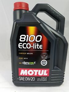 108536 Motul 8100 Eco Lite 0w20 100 Synthetic Performance Engine Oil 5 Liter