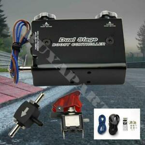 For Honda Acura Turbo Dual Stage Manual Boost Bypass Controller Universal Black