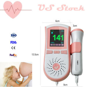 2018 New Blue Maternity Heartbeat Baby Sound Monitor Fetal Doppler 3mhz Probe