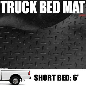 Black Rubber Diamond Pattern Truck Bed Floor Mat 93 11 Ford Ranger 6 72 Short