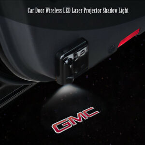 2x Car Door Lamp Wireless 7w Led Laser Projector Ghost Shadow Light For Gmc