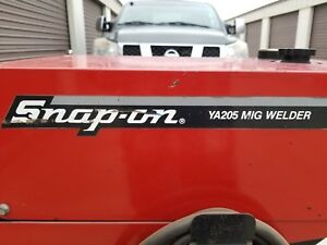 Snap On Ya205 Mig Welder Body Shop Type Welder Has An Extra Gun And Cord