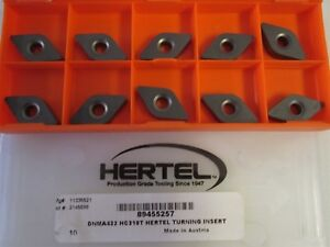 Lot Of 10 Carbide Turning Inserts Style Dnma Size 432 Grade Hc310t New