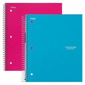 Five Star Spiral Notebooks 5 Subject College Ruled Paper 200 Sheets 11