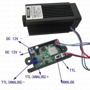Focusable Analog Ttl 5 5w 5500mw 450nm Blue Laser Module Engrave Cutter