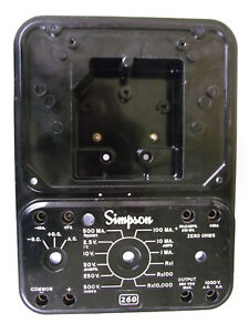 Vintage Panel Assembly For Simpson 260 Series 6 Analog Volt ohm Meter Usa Made