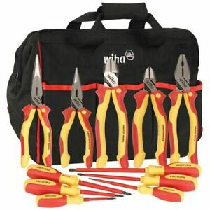 Wiha 32390 11 Pc Proturn Insulated Pliers Screwdriver Set