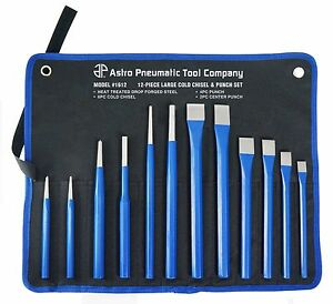 Astro Pneumatic 1612 12pc Large Cold Chisel Punch Set
