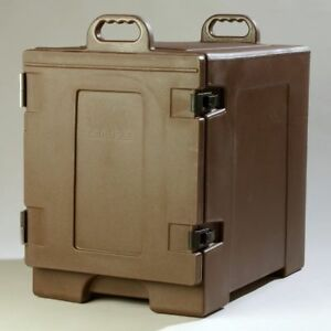 Insulated Food Pan Carrier Brown Restaurant Cold Warm Transport Caterer Kitchen