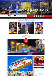 Las Vegas Usa Hotel Travel Website For Sale Affiliate Mobile Responsive Design