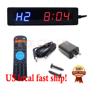 Led Programmable Crossfit Interval Timer Wall Clock W Remote For Tabata Fitness