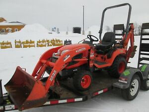 Kubota Bx25d Farm Tractor Loader Backhoe With Trailer