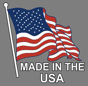 Made In The Usa Sticker Decal American Made American Flag Truck Car Window