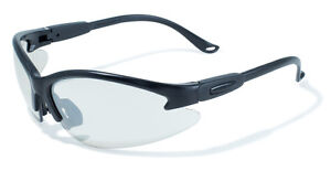 12 Global Vision Black Contender Safety Glasses Clear Lenses Ansi Z87