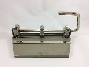 Vintage Boston Heavy Duty 3 Hole Paper Punch Adjustable With Paper Sizes
