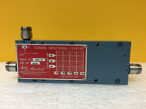 Narda 3001 40 460 Mhz To 950 Mhz 40 Db N f Coaxial Directional Coupler