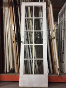 French Door Old Single French Door 78 1 2 X 24 10 Glass Antique Vintage