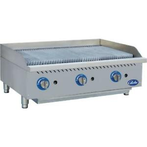 Globe Gcb36g cr 36 Radiant Gas Charbroiler Grill