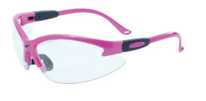 Global Vision Cougar Bifocal Safety Glasses Pink Frames Ansi Z87 1 2010
